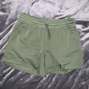 Olive Green Casual Shorts